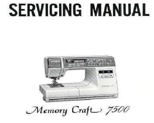 New home janome sewing machine service instructions for Janome memory craft 3000