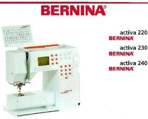 Bernina Sewing Machine Instructions
