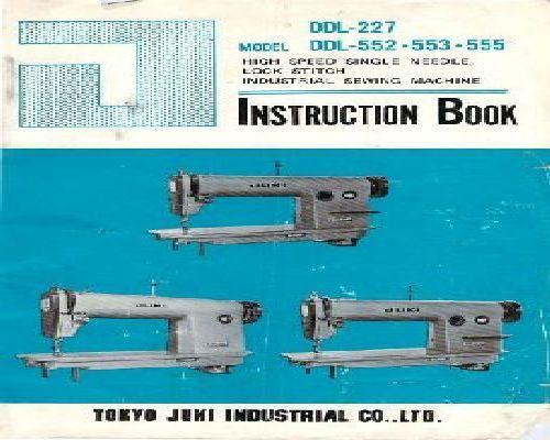Juki ddl 555 parts Manual