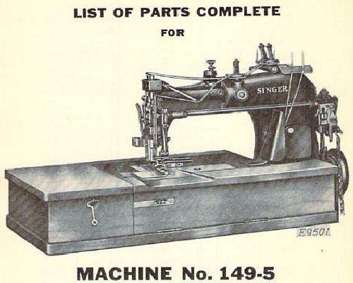 Singer Industrial Sewing Machine Parts Books List 6
